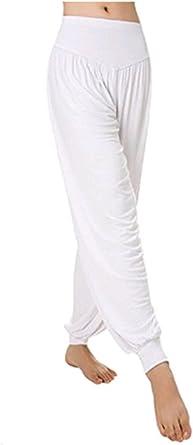 Leisial Pantalones De Yoga Algodon Suave Piernas Pantalones Anchos Solido Color Elastico Pretina Pantalones Bombachos De Fitness Bailan Deportivo Para Mujeres Negro Xl Blanco Xl Amazon Es Ropa Y Accesorios