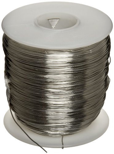 Tinned Copper Wire, Bright, Silver, 22 AWG, 0.0253'' Diameter, 501' Length (Pack of 1) by Small Parts