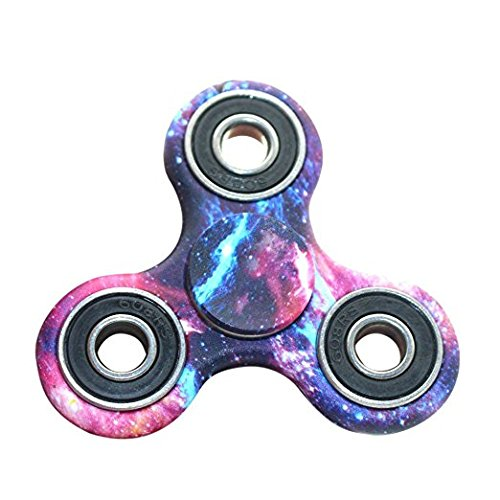 This galaxy print fidget spinner. You must be living under a rock if you haven't heard about fidget spinners. Fidget spinners have been all over the news. For parents, you may have received an email or letter home from your child's principal about rules surrounding the use of fidget spinners at school. Maybe you've even laughed hysterically at a post on Facebook about how to use a fidget spinner. Whether you're in the market for a fidget spinner to distress, keep your mind focused or simply to make fun of the things, here is a collection of The 10 Best Fidget Spinners You Can Buy on Amazon right now!