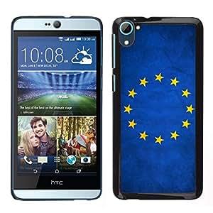 EJOY---Cubierta de la caja de protección para la piel dura ** HTC Desire D826 ** --Nación de la bandera nacional del país de la Unión Europea