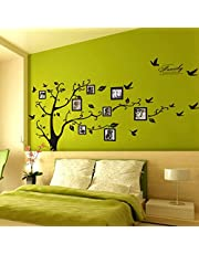 ملصقات جدار على شكل اطارات صور وشجرة مصنوعة من الفينيل قابلة للازالة لتزيين المنازل