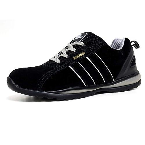HOLMAN Mens Safety Steel Toecap Lightweight Lace up Work Shoe Trainer