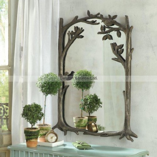 entry mirrors large bird branch 3pc wall mirror set full length window 75 metal