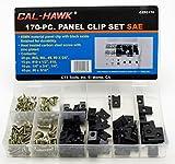 Cal-Hawk CZPC170 Auto Car Clip & Screw Kit for Dash Door Panel Interior SAE, White