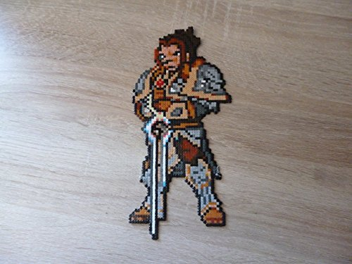 Sprite Varian Wrynn – World of Warcraft – Hama Beads • Pixel Art • Perler bead