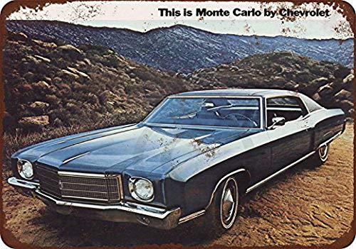 let Monte Carlo Reproduction Metal Sign 8 x 12 ()