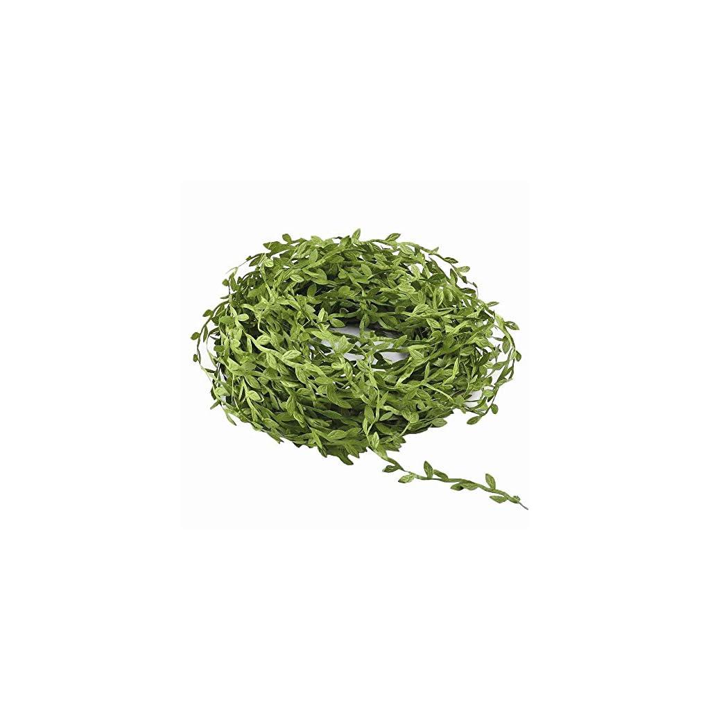 Hecaty-132-ft-Olive-Green-Leaves-Leaf-Trim-Ribbon-for-DIY-Craft-Party-Wedding-Home-Decoration