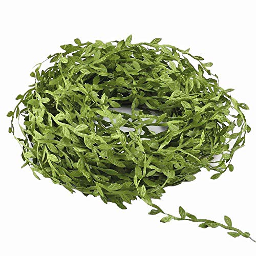 Hecaty 132 Ft Artificial Vines, Artificial Eucalyptus Leaf Garland DIY Greek Wild Jungle Decorative Botanical Greenery for Baby Shower Home Wall Garden Wedding Party Wreaths.(132 ft) ()