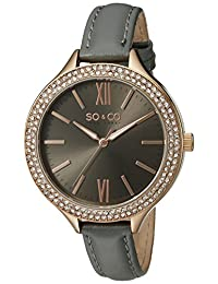 SO & CO New York Women's 5089.3 SoHo Analog Display Quartz Grey Watch
