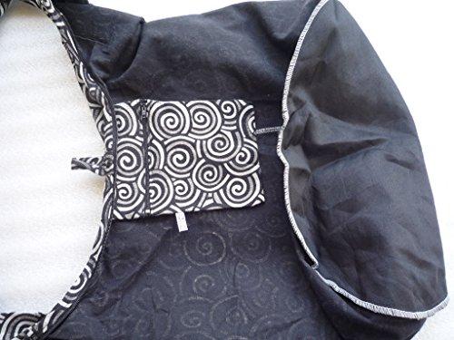 Ariyas Thaishop, Borsa a spalla donna Bianco schwarz / weiss