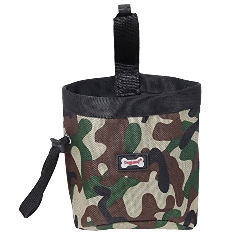 DogLemi@ Dog Treating Pouch For Treating, Poop Bag Dispenser Carriers, Treats & Toys Camouflage Sports Pet Pouch Bag (P30007-GR) (Camouflage Carrier Dog)