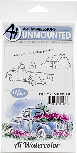 Art Impressions 5011 Truck Mini Watercolor Cling Rubber Stamps, Multicolor by Art Impressions