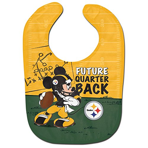(WinCraft NFL Pittsburgh Steelers All Pro Style Baby Bib, One Size, Team Color)