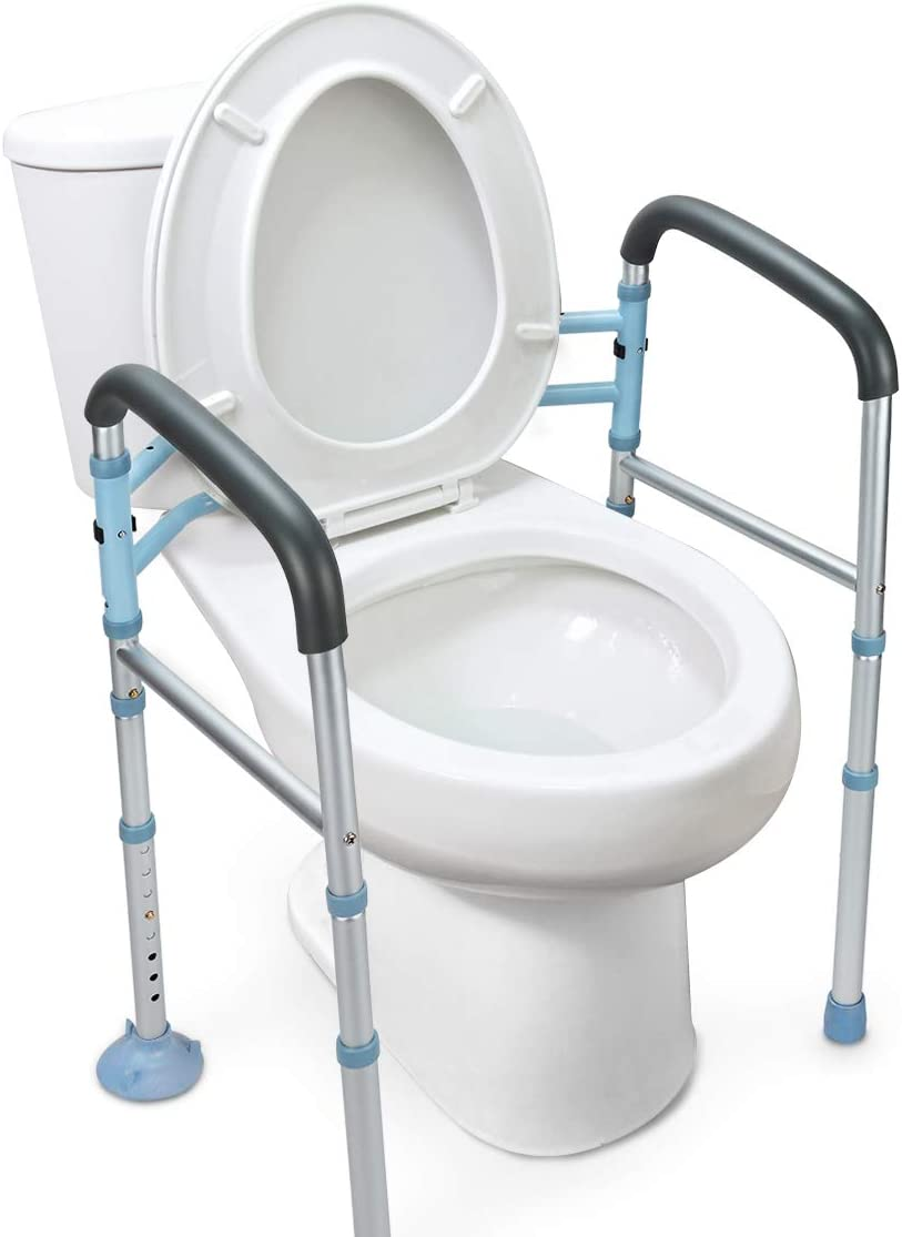 best toilet safety rails: OasisSpace Stand Alone Toilet Safety Rail