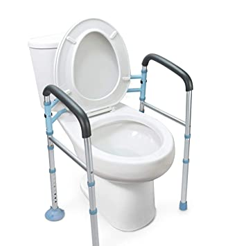 Marvelous Oasisspace Stand Alone Toilet Safety Rail Heavy Duty Medical Toilet Safety Frame For Elderly Handicap And Disabled Adjustable Bathroom Toilet Bralicious Painted Fabric Chair Ideas Braliciousco