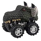 Pull Back Cars Toy,FTXJ 1PCS/4PCS Animal Children Gift Toy Dinosaur Model Mini Toy Car Gift Pull Back Car Toy (1 PCS, Black C)