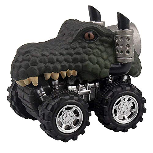 Birdfly Cool Mini Vehicle Dinosaur Animal Pull Back Cars with Big Tire Wheel Creative Gifts for Kids (C1) ()