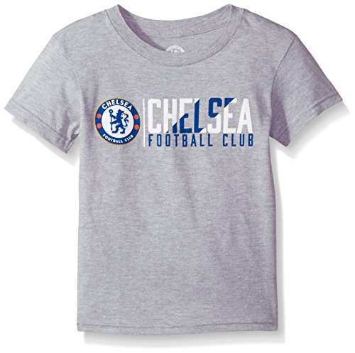 (Outerstuff International Soccer Chelsea Kids Across The Field Short Sleeve Tee, S(4), Heather Grey)