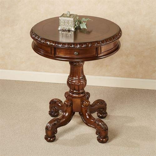 Cortona Pedestal Table Autumn Cherry by Touch of Class
