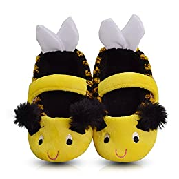 Image of Adorably Cute Bee Slippers for Toddlers and Girls