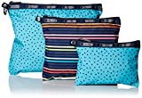LeSportsac 3 Piece Travel Set Handbag Pouch