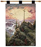 Manual Inspirational Collection 26 X 36-Inch Wall Hanging and Finial Rod, Sunrise with Verse by Thomas Kinkade