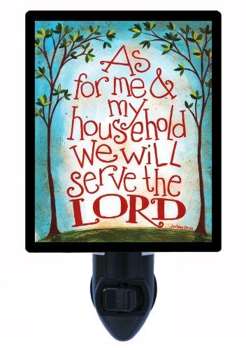 Religious Night Light, Joshua 24:15, LED Night Light