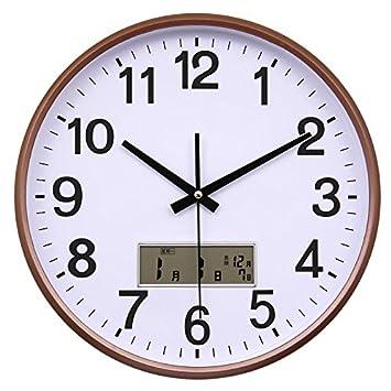Reloj de pared moderno Dibujo creativo calendario silencio reloj de pared relojes de cuarzo círculo familiar reloj de pared reloj electrónico, 9: Amazon.es: ...