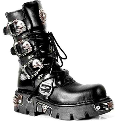 M Biker 391 Upeita Rock Saappaat Musta Metallinen Unisex Nahkainen Gothic New s1 wa4FRApqpx