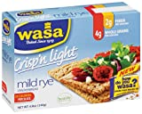 Wasa Crisp 'n Light Mild Rye, 4.9-Ounce (Pack of 10)