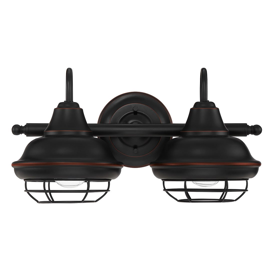 Designers Impressions Charleston Oil Rubbed Bronze 2 Light Wall Sconce/Bathroom Fixture: 10007