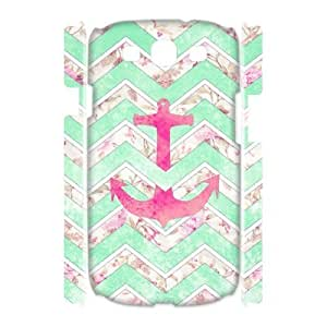 VNCASE Anchor Chevron Phone Case For Samsung Galaxy S3 I9300 [Pattern-1]