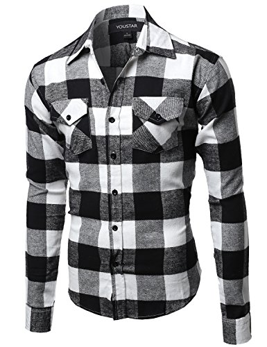 Black And White Flannel Shirt - 4