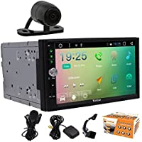 Universal Car Stereo with Pure Android 6.0 System In Dash GPS Navi 7 Inch Touch Screen No DVD CD Player Double 2 Din Head Unit Bluetooth Wifi Mirror link Steering Wheel Control+Backup Cam