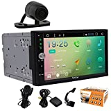 Backup Camera + Universal Car Stereo with Pure Android 6.0 System In Dash GPS Navi 7 Inch Touch Screen No DVD CD Player Double 2 Din Head Unit Bluetooth Wifi Mirror link Steering Wheel Control