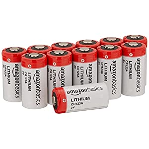 AmazonBasics Lithium CR123a 3V Batteries, 12-pack