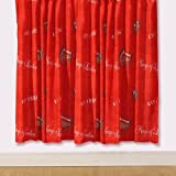 Arsenal Curtains - Kings of London 72s, Childrens red bedroom curtains