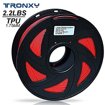 3D Flexible Red TPU Filament 1.75 mm, 2.2 LBS (1KG) Material: TPU