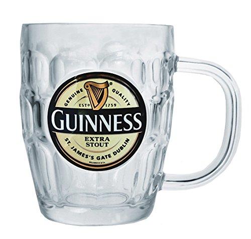 Guinness Label Glass Beer Mug - 16 oz