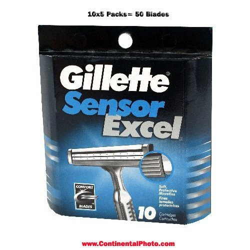 Gillette Sensor Excel-50 Count (5 x 10) by Gillette