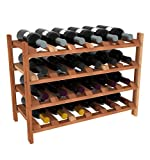 Creekside 24 Bottle Modular Wine Shelves (Redwood) by Creekside – Exclusive 12-inch deep design, bottle necks don't stick out! Quality, high grade pine, 12″, Redwood For Sale