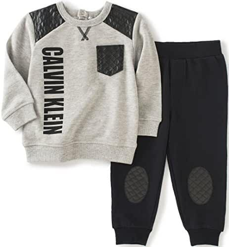Calvin Klein Baby Boys' Pullover with Patched Pants Set
