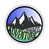 #10: Adventure Awaits Sticker Vinyl Decal for Auto Cars Trucks Windshield Laptop RV Camper 4