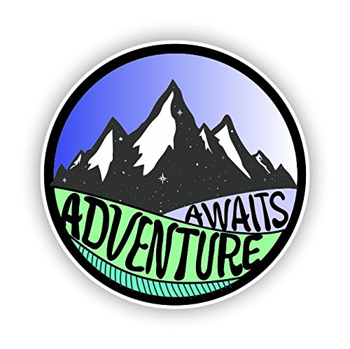 Adventure Awaits Sticker Vinyl Decal for Auto Cars Trucks Windshield Laptop RV Camper 4