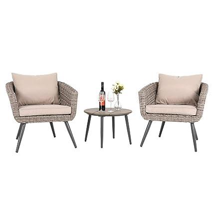 Amazon.com: PHI Villa RS-17023-SET - Muebles de mimbre para ...