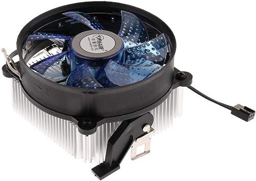 D DOLITY Disipador de Calor Ventilador CPU Accesorios Fácil de ...