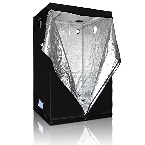 LAGarden 48x48x78 100% Reflective Diamond Mylar Hydroponics Indoor Grow Tent Non Toxic Planting Room 4x4Ft by LAGarden (Image #3)
