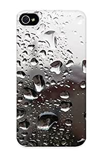 Elizabethshelly Faddish Phone Window Drops Glass Rain Storm Abstract Case For Iphone 4/4s / Perfect Case Cover