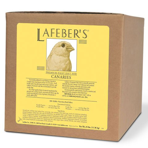 - LAFEBER'S Premium Daily Diet Pellets Pet Bird Food, Made with Non-GMO and Human-Grade Ingredients, for Canaries, 25 lb