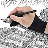 Nesee Two Finger Gloves for Tablet Artist Drawing Anti-fouling Sweatproof Drawing Glove (A)